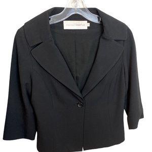 CHAIKEN Classic Black Lined Portrait Blazer - 4